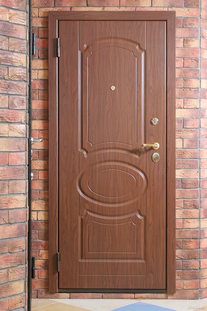 оформление и облицовка железной двери